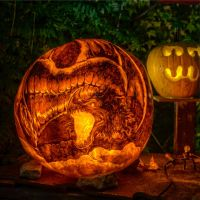 Smaug - Lit Carve by snerk