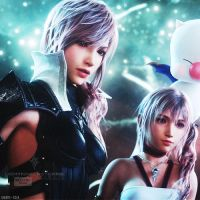 Lightning and Serah by TheDestinedWarrior