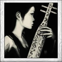Girl with Sape by Tsabo6