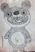 Funny scary bear by dayanaRios