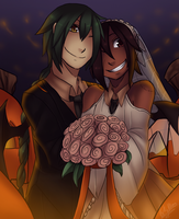 A Halloween Wedding by PockyBloo
