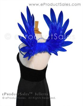 Royal Blue Julietta Feather Angel Wings costume by eProductSales