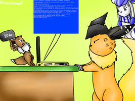 Blue screen of death by FlaranTheFlareon