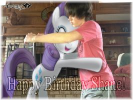 A hug from Rarity to Shane, Happy Birthday! by BCMmultimedia