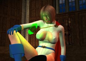 Powergirl Vs Kryptonite pt1 by Zamboniman