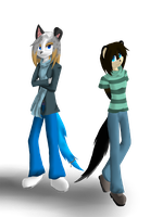 Request... Lassi and Tiger by Crazybandit1