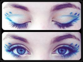Makeup: Blue And Gold by Tammots23