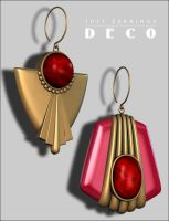 Just Earrings Deco p2 by inception8