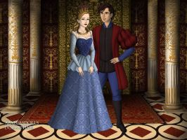 The Tudors: Princess Aurora and Prince Phillip by moonprincess22