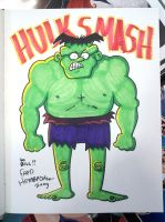 Hulk Smash Color Commission by AndrewJHarmon