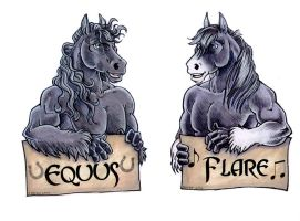 Horse Badges by lady-cybercat