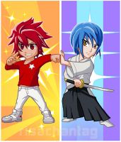 Star Driver: Takuto and Sugata by Risachantag