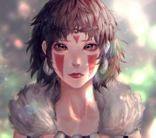Princess Mononoke by 23i2ko