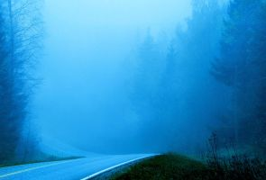 Misty road by KariLiimatainen