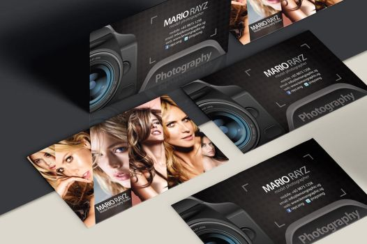 Photographer business card design by Lemongraphic