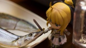 Chopping the fish by Kodomut