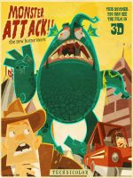 Monster attack by Diedidac