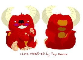 Cute Monster by Pupi-herrera