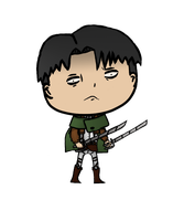Big head Levi by GardenerGnome