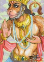 Hanuman Sketch Card - Kate Bradley by Pernastudios