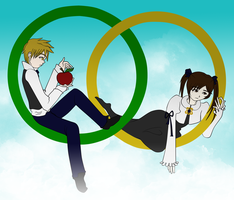 The Green and Yellow Rings by queroro