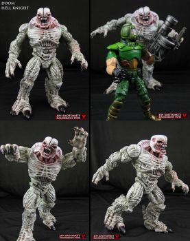 Custom Doom Hell Knight action figure by Jin-Saotome