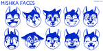 Mishka Faces by Newshift