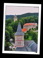 Rozmberk Castle Tower by Kseek
