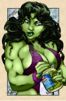She-Hulk by Q Hoover by THE-Darcsyde