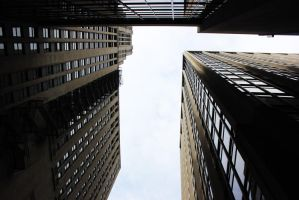 3 Buildings in Chicago(Low POV perspective) by OneLifeOneTime