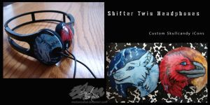 Shifter Twins Headphones by GhostTheZombie