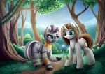 COM10_ Light Landstrider and Zecora by MagnaLuna