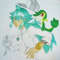 N and Snivy by h2656256