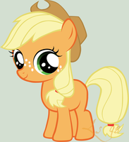 My first vector - young applejack by Lightstar98