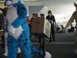 Fursuit parade infiltrator by Rennon-the-Shaved