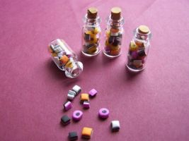 Tiny Jar of Liquorice Allsorts by littlemooglet