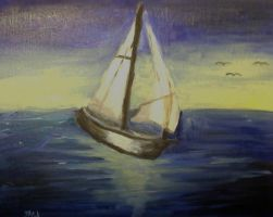 Sailing at First light 2 by speleochick