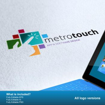 Metro Touch Logo by PVillage