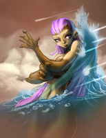 Lady of the lake Defense card by yezzzsir