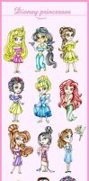 chibi princesas disney by Hispanart