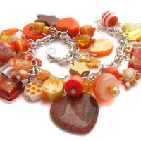 Orange Charm Bracelet 2 by fairy-cakes