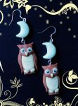 Crescent Owls ON SALE by Sunlight-Angel