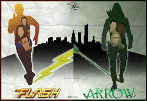 The Unity: Arrow And The Flash Crossover Poster by LTRees