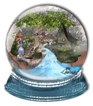 Alice in Wonderland ~ Snow Globe by Travail-de-lame