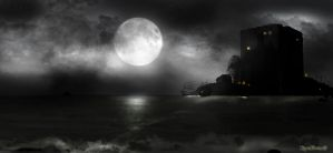 Moon over Tortuga by KomyFly