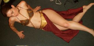 Sexy Slave Leia by MortalKombatgirl