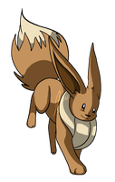 Eevee Jumps by jaclynonacloud