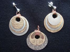 Pendant and Earring Set (For: Jess) by SolarLunix