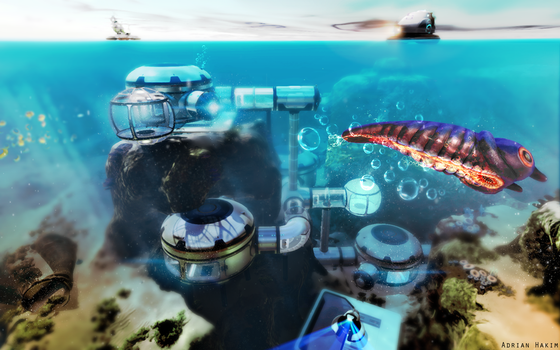 Subnautica Base Wallpaper by GamePS