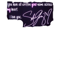 Selena Gomez Text Png by MaddieLovesSelly